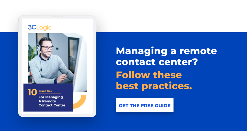 manage a remote contact center CTA 1
