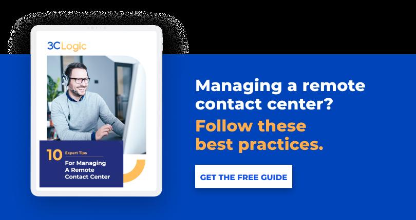 Remote contact center