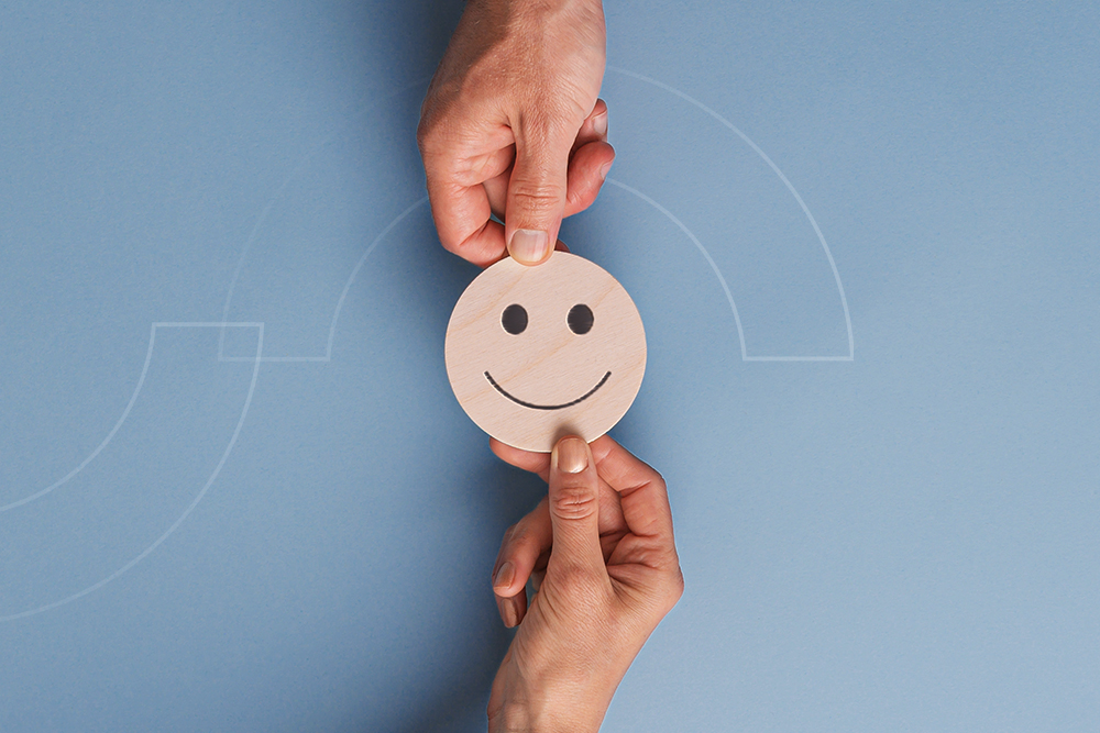 customer experience smiling face